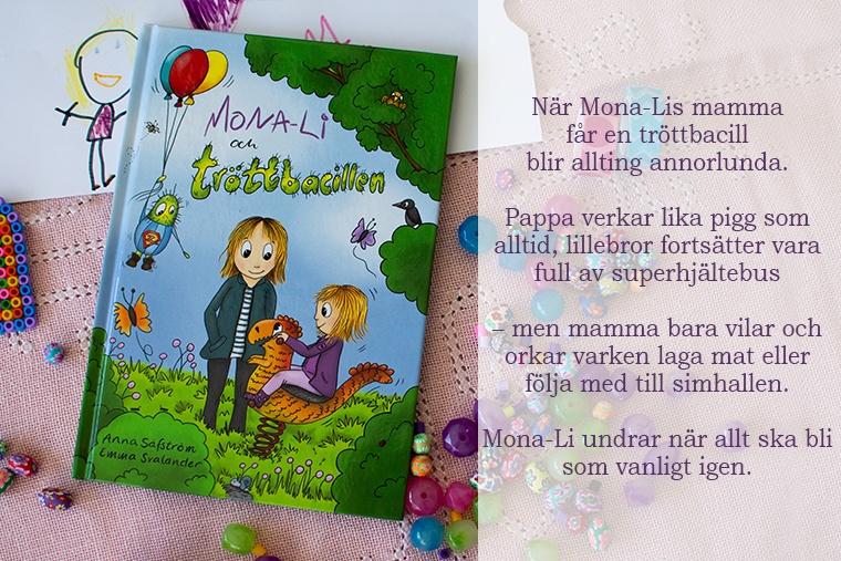 Mona-li och tröttbacillen bok på bord