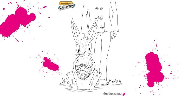 kaninen holger äter sallad
